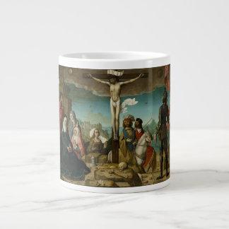 Crucifixión del La de Juan de Flandes Taza Grande