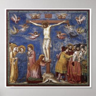Crucifixión del poster del arte del Jesucristo