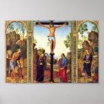 Crucifixión del tríptico de Galitzine de la visión Impresiones
