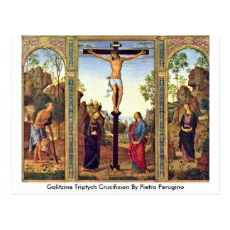 Crucifixión del tríptico de Galitzine de Pedro Postales