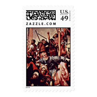 Crucifixion Detail By Lotto Lorenzo (Best Quality) Postage Stamps