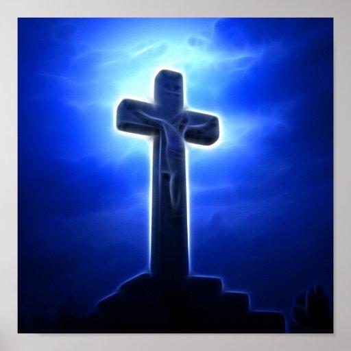 Crucifixión dramática de Jesús Posters