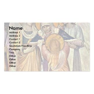 Crucifixión: El detalle mariano por Angelico Fra Plantillas De Tarjetas De Visita