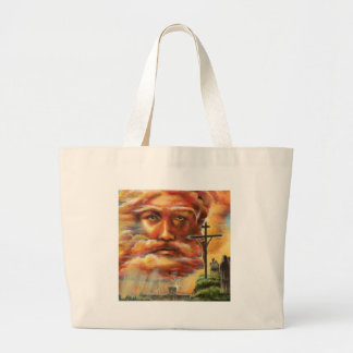 Crucifixion, Good Friday Large Tote Bag