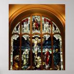 Crucifixión - Jesús en la cruz - vitral Impresiones