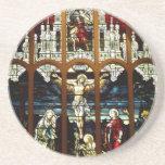 Crucifixión - Jesús en la cruz - vitral Posavasos Diseño