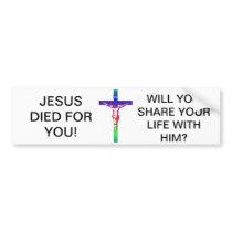 Crucifixion - Jesus on The Cross - Good Friday Bumper Sticker