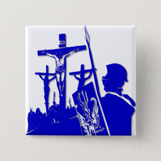 Crucifixion - Jesus on The Cross - Good Friday Pinback Button