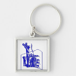 Crucifixion - Jesus on The Cross - Good Friday Silver-Colored Square Keychain