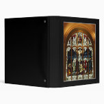 Crucifixion - Jesus on The Cross - Stained Glass 3 Ring Binders