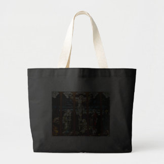 Crucifixion - Jesus on The Cross (Stained Glass) Canvas Bags