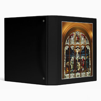 Crucifixion - Jesus on The Cross - Stained Glass Binder