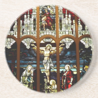 Crucifixion - Jesus on The Cross - Stained Glass Coaster
