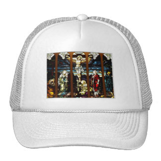 Crucifixion - Jesus on The Cross (Stained Glass) Hat
