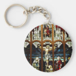 Crucifixion - Jesus on The Cross - Stained Glass Keychains