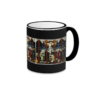 Crucifixion - Jesus on The Cross (Stained Glass) Coffee Mugs