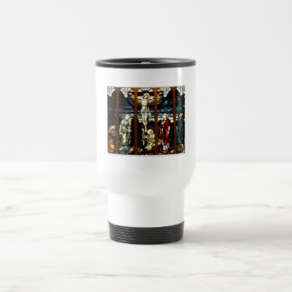 Crucifixion - Jesus on The Cross (Stained Glass) Coffee Mug
