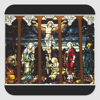 Crucifixion - Jesus on The Cross (Stained Glass) Sticker