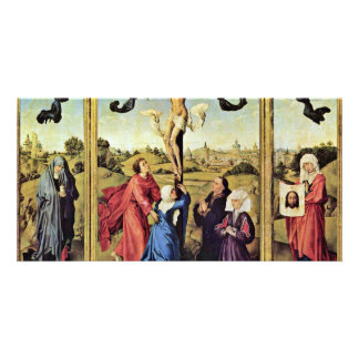 Crucifixion Left Wing: St Mary Magdalene Right Win Photo Card