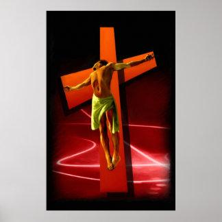 Crucifixión - lona de bella arte contemporánea de  impresiones