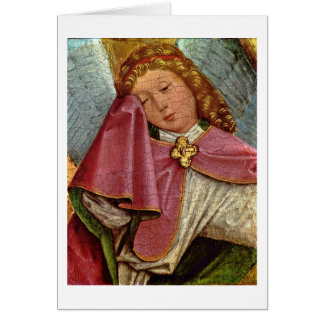 Crucifixion:Mourner Engel By Master Of Liesborn Greeting Card