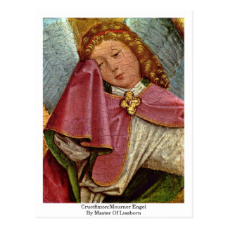 Crucifixion:Mourner Engel By Master Of Liesborn Postcard