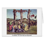 Crucifixion Of Christ By Luca Signorelli Greeting Card