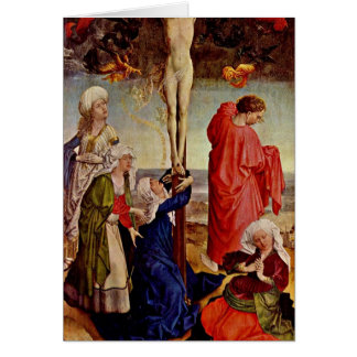 Crucifixion Of Christ By Robert Campin Greeting Cards