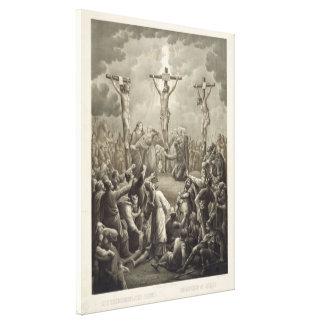 Crucifixion of Christ die Kreuzigung Jesu Christi Stretched Canvas Print
