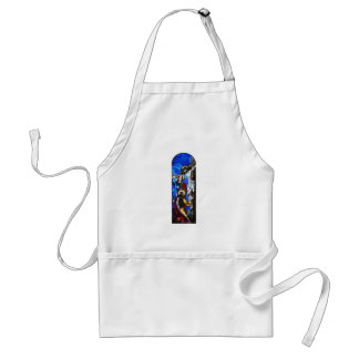 Crucifixion of Jesus Christ Stained Glass Art Adult Apron
