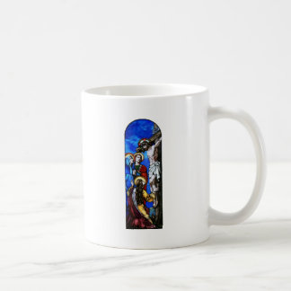 Crucifixion of Jesus Christ Stained Glass Art Mugs