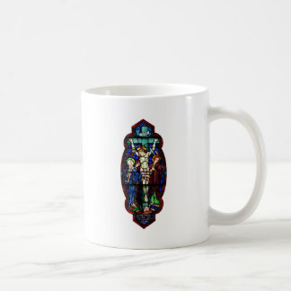 Crucifixion of Jesus Christ Stained Glass Art Mug