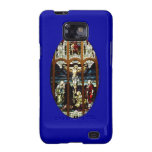 Crucifixion of Jesus stained glass window Samsung Galaxy Cases