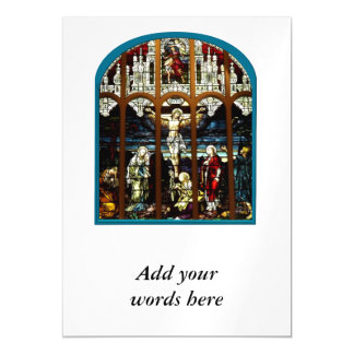 Crucifixion of Jesus Stained Glass Window Magnetic Card