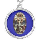 Crucifixion of Jesus stained glass window Custom Jewelry