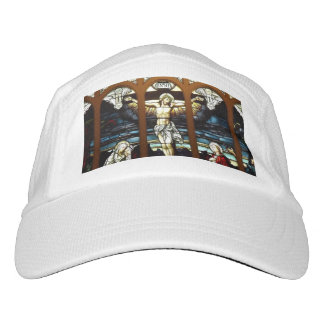 Crucifixion of Jesus Stained Glass Window Headsweats Hat