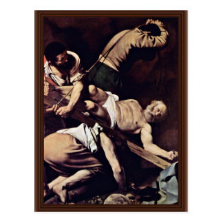 Crucifixion Of St. Peter By Michelangelo Merisi Da Postcard