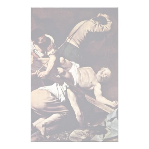 Crucifixion Of St. Peter By Michelangelo Merisi Da Stationery