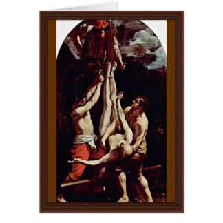 Crucifixion Of St Peter By Reni Guido Cards