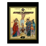 Crucifixion of the Lord Prayer Card Postcards