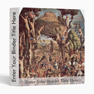 Crucifixion Of The Ten Thousand On Mount Ararat Vinyl Binder