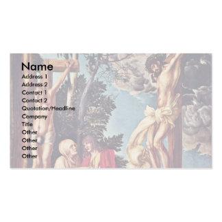 Crucifixión por Cranach D. Ä. Lucas (la mejor cali Tarjetas De Visita