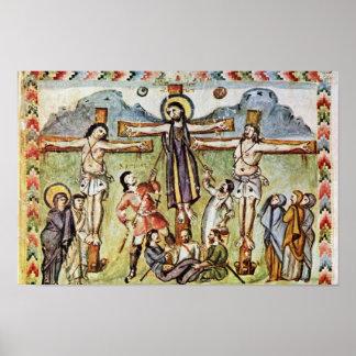 Crucifixión por DES Rabula-Evangeliums (Bes de Mei Posters
