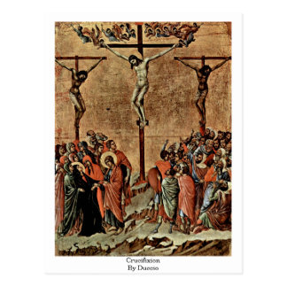 Crucifixión por Duccio Tarjetas Postales