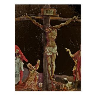 Crucifixion Saints at Jesus Feet Postcard