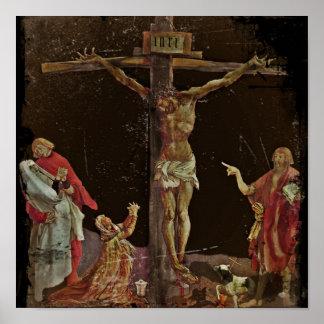 Crucifixion Saints at Jesus Feet Poster