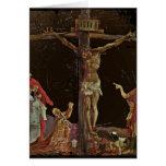 Crucifixión (salterio del panel central) tarjetas