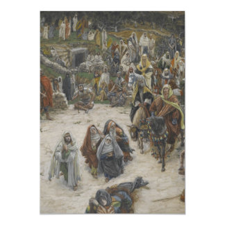 crucifixion seen from the cross James Tissot Card