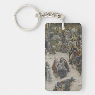crucifixion seen from the cross James Tissot Keychain