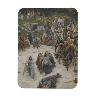 crucifixion seen from the cross James Tissot Magnet